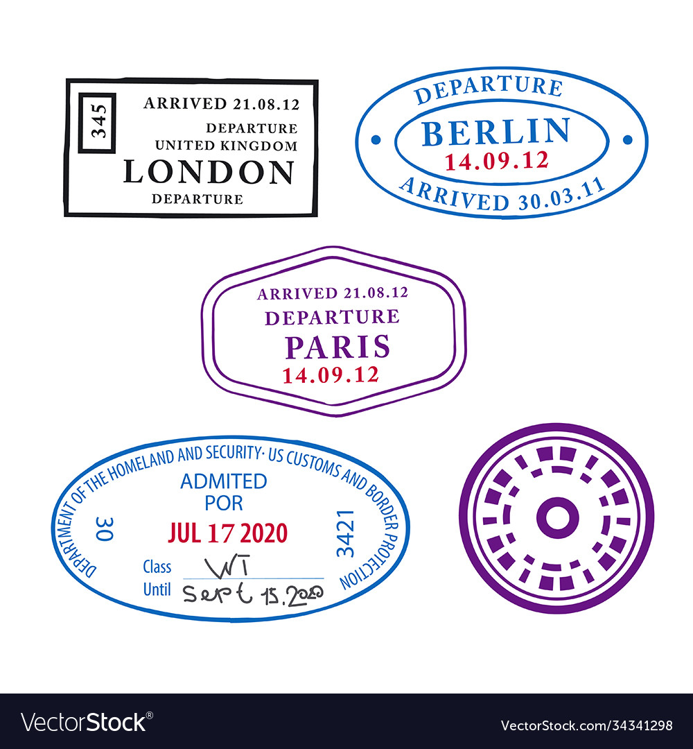 Travel pass stamps