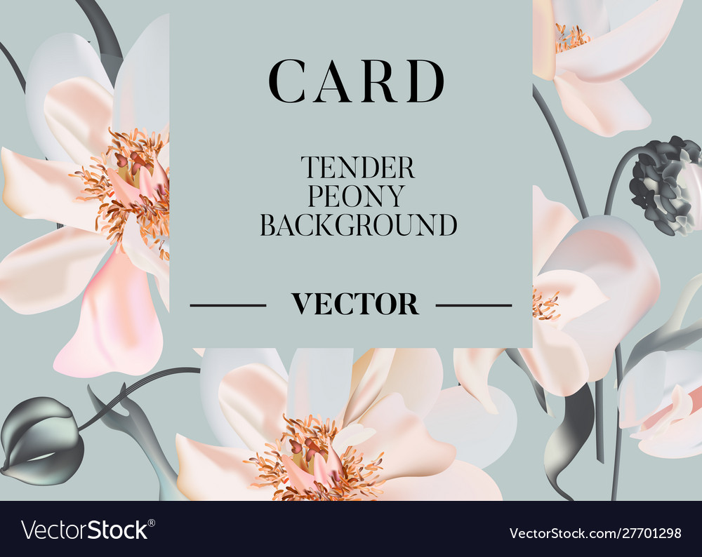 Wedding peony floral pastel realisitic invitation
