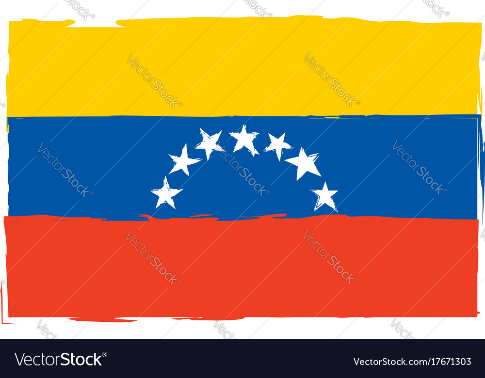 Abstract venezuela flag or banner