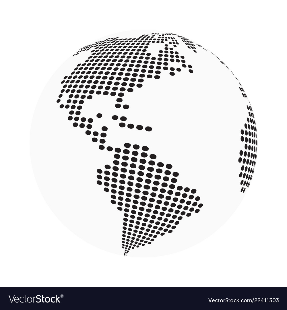 Globe earth world map - abstract dotted