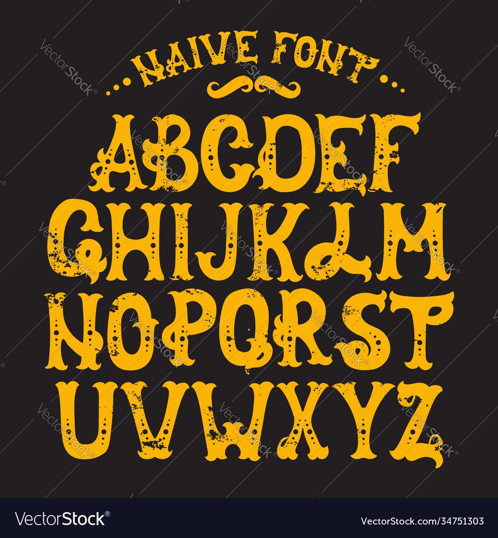 Hand drawn trendy font custom handwritten