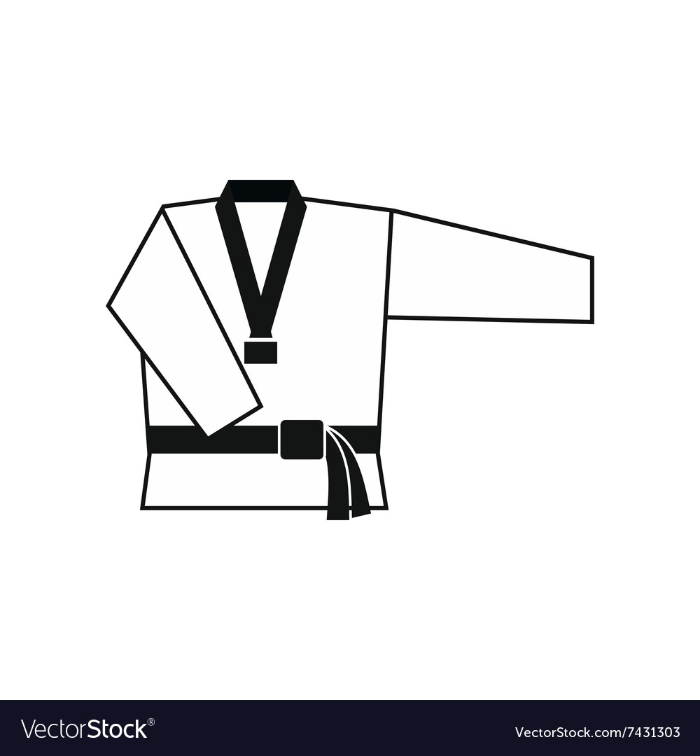 Kimono and martial arts belt icon
