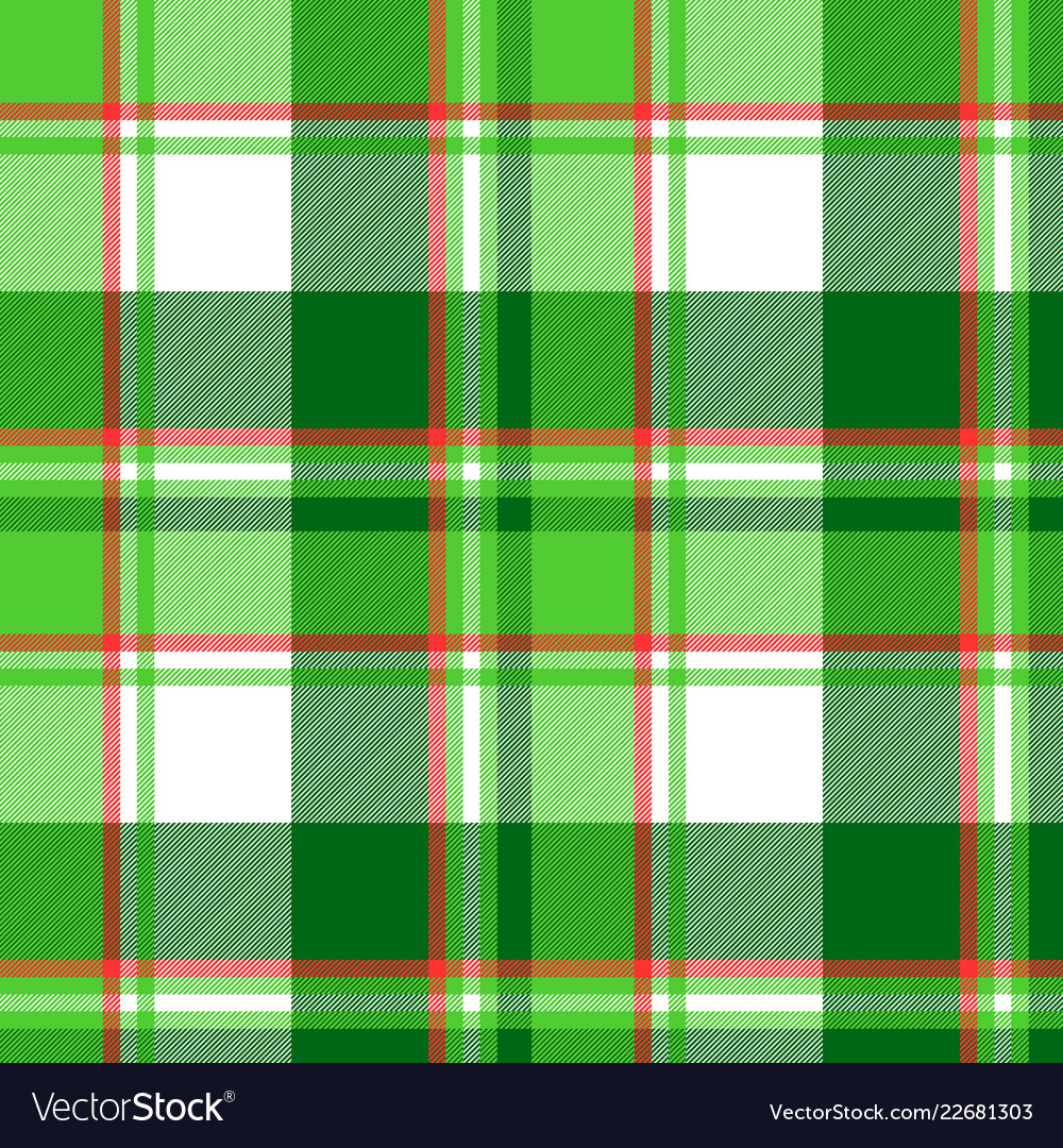 Summer color green check plaid seamless pattern