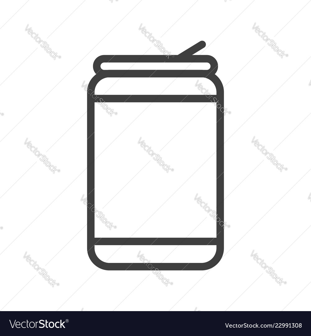 Aluminum soda or beer can outline art icon