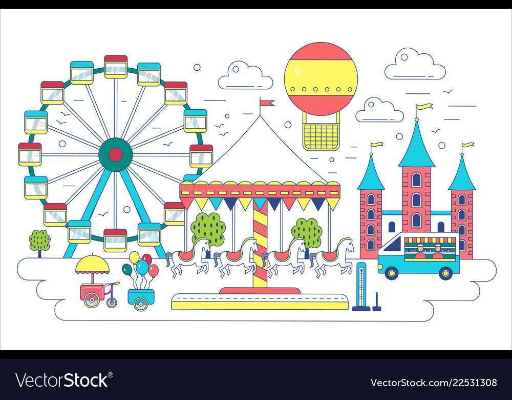 Amusement park flat line