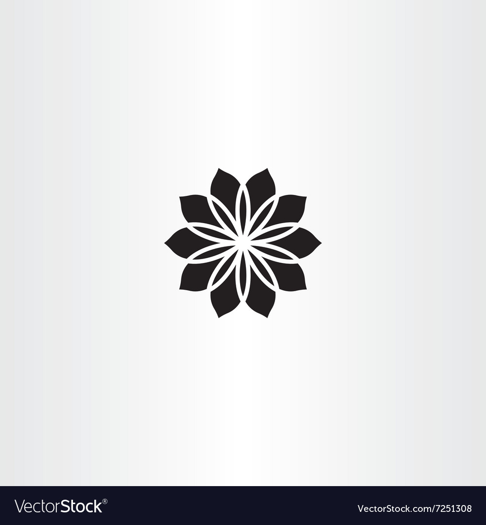 Black icon flower abstract