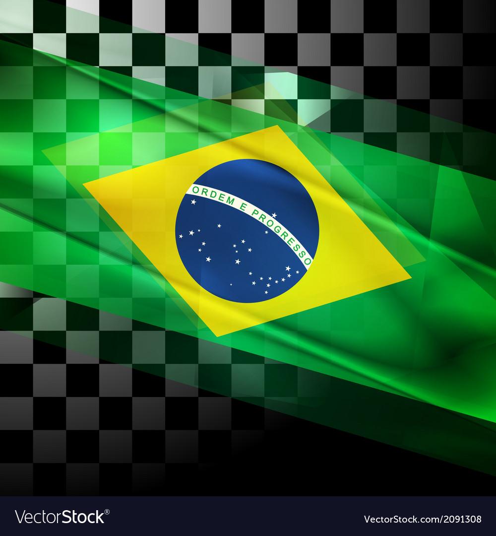 design of brazilian flag royalty free vector image