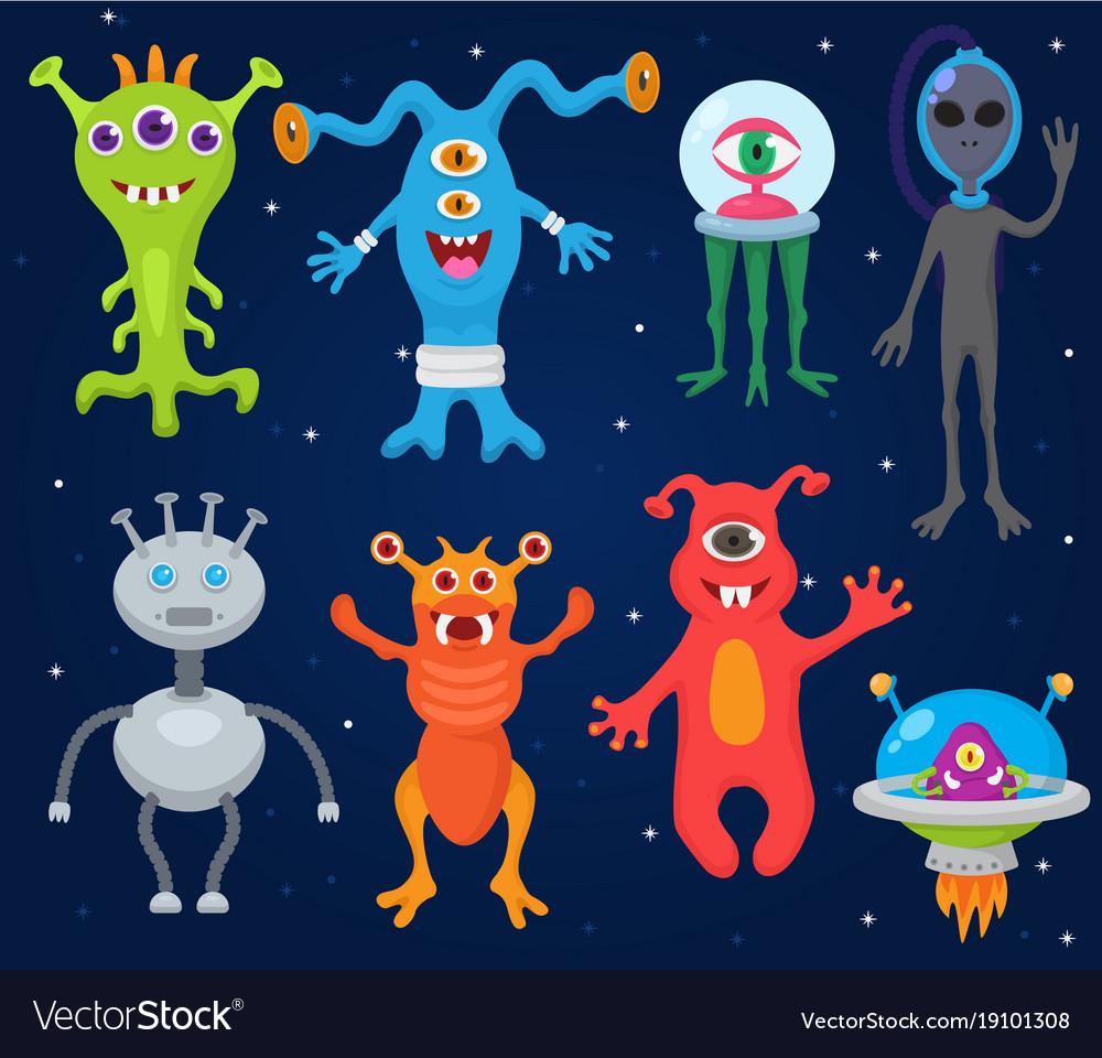Monster alien cartoon monstrous character