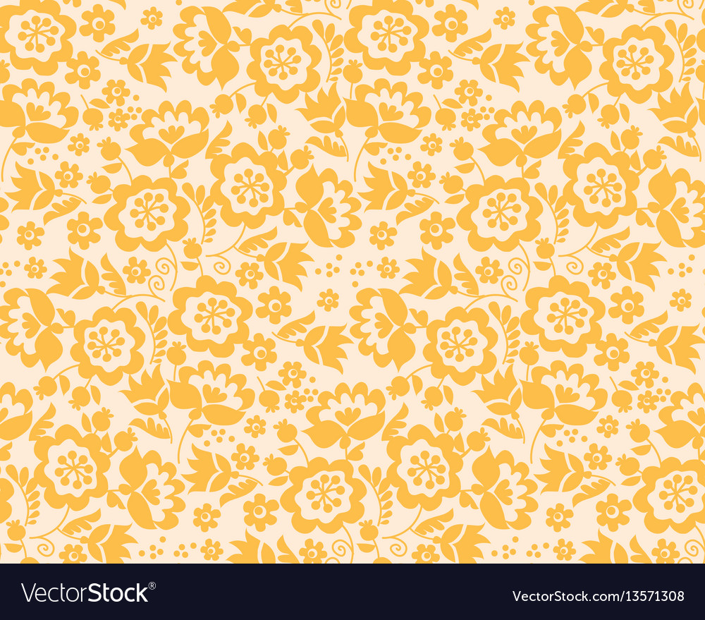 Retro style summer flower seamless pattern in vector image