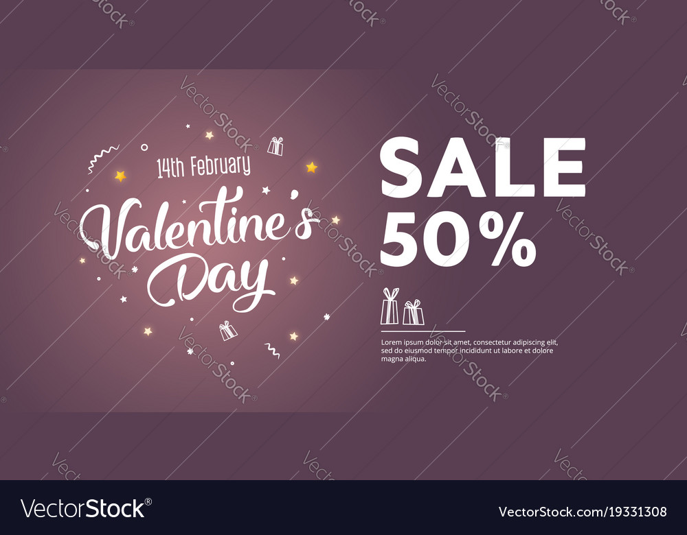 Sale of valentines day 50 off creative flyer