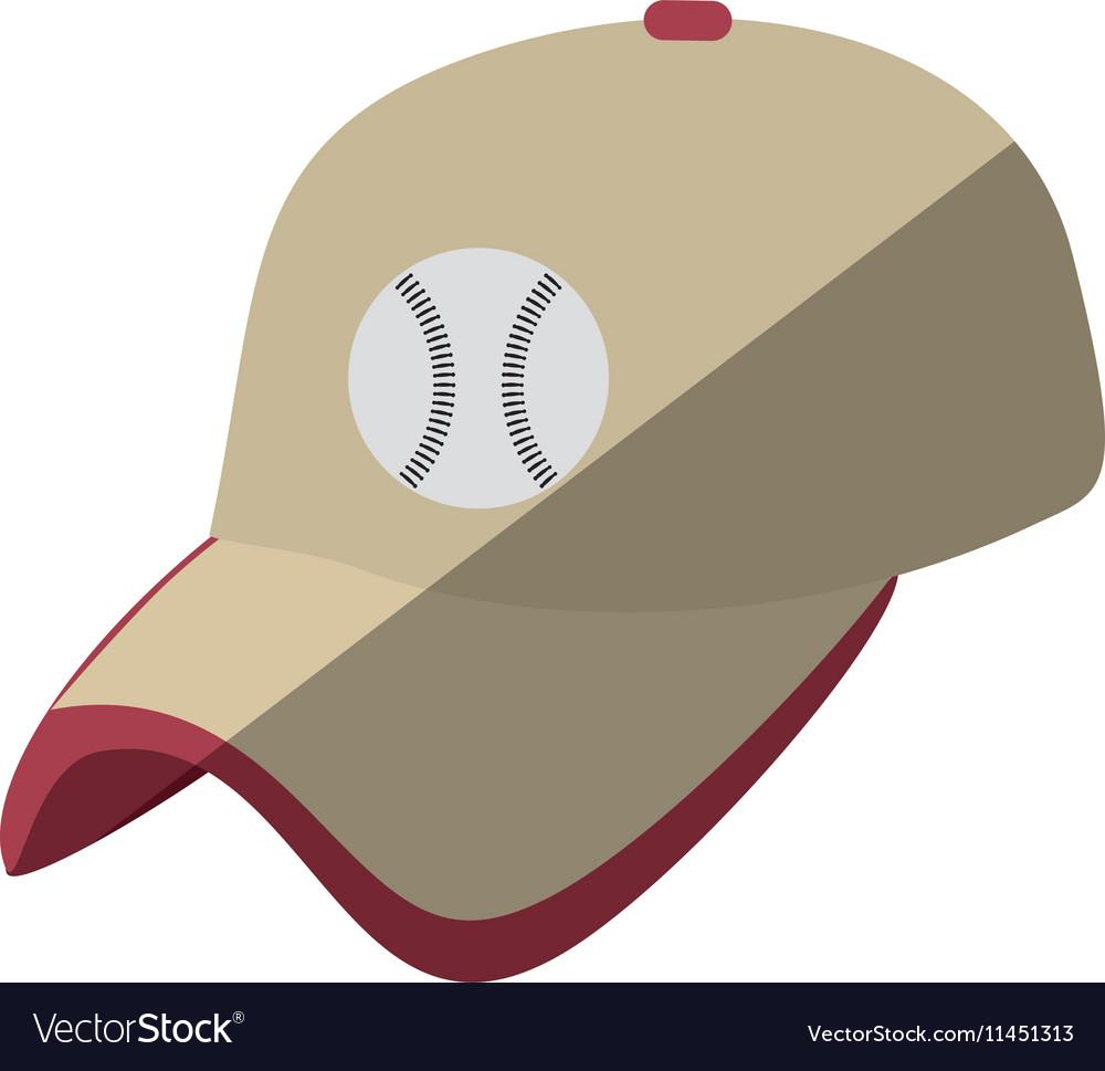 Baseball cap uniform isolated icon vector image