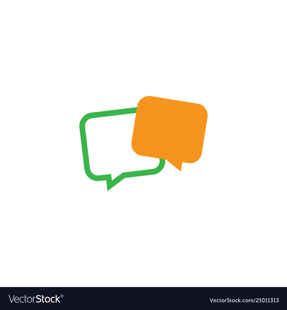Message chat icon logo