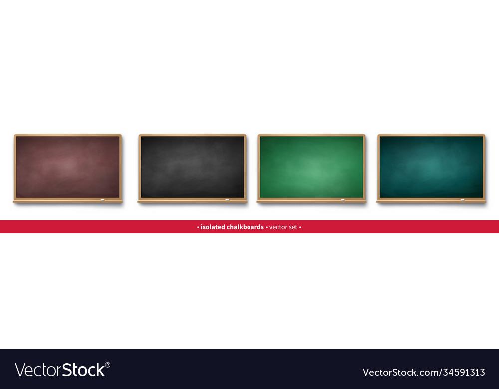 Set horizontal chalkboards