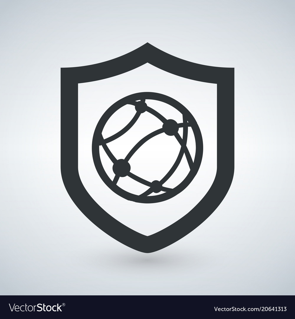Shield internet protection security icon