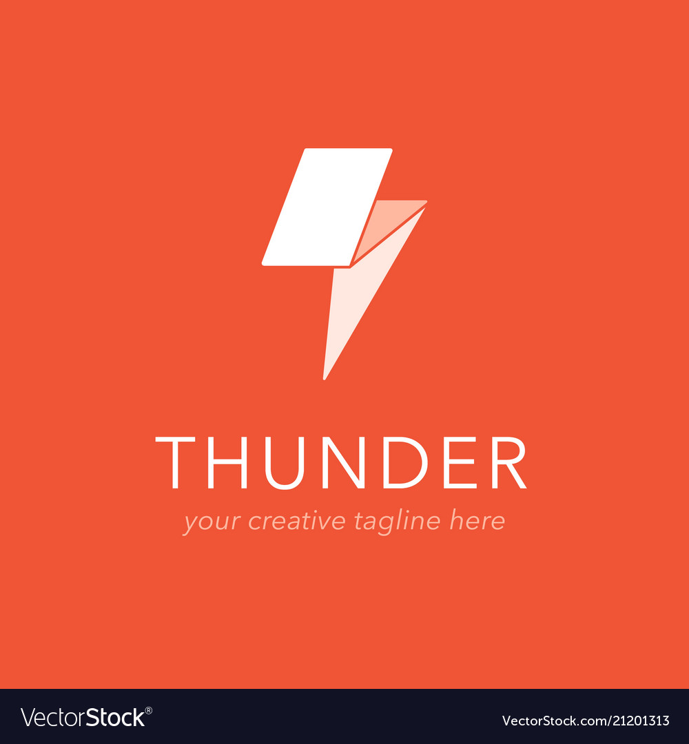 Thunder logo design
