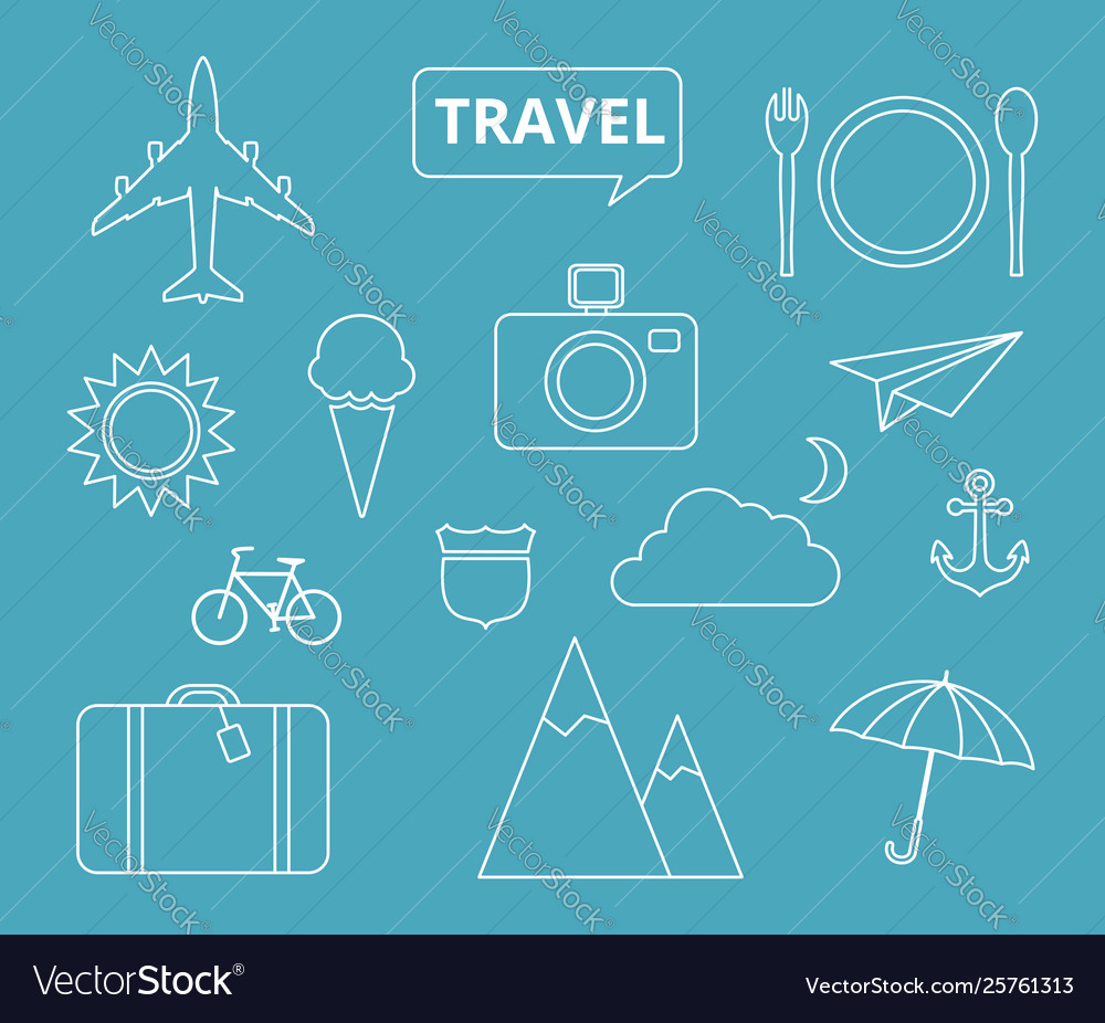 Travel theme icons