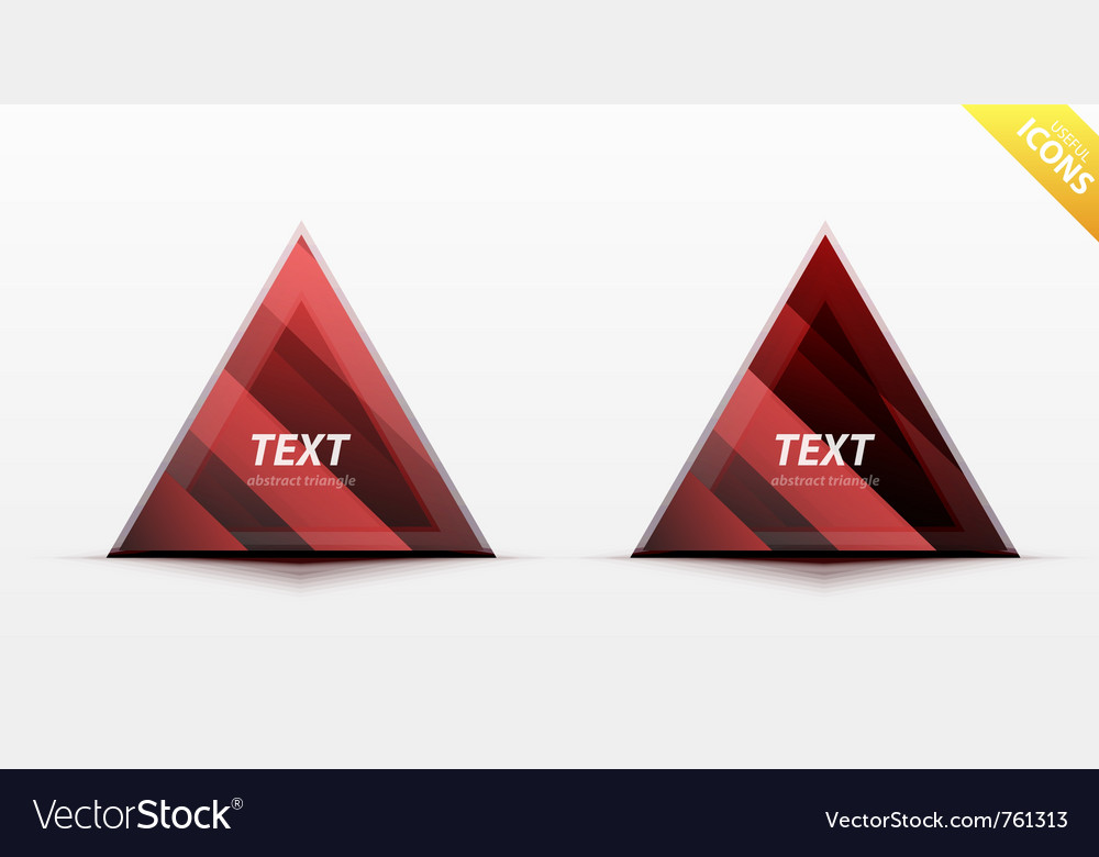 Triangle business design element