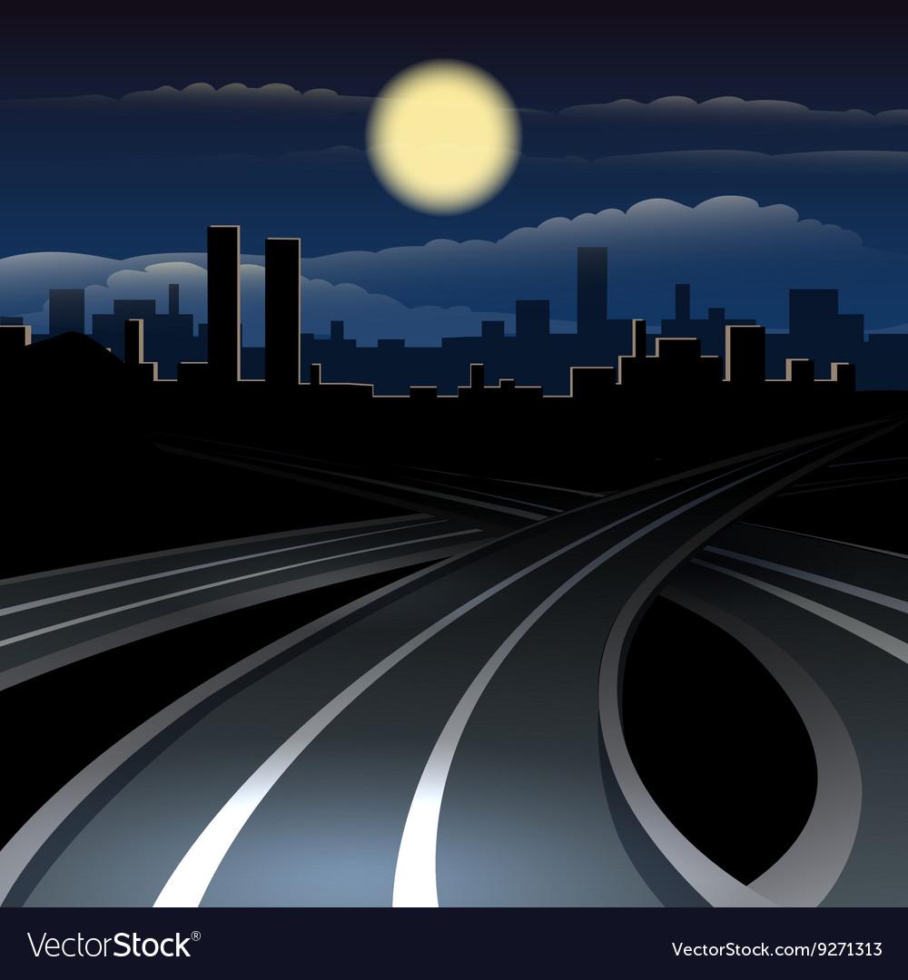Urban night cityscape