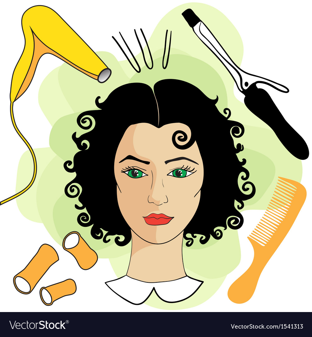 Woman In A Beauty Salon Royalty Free Vector Image