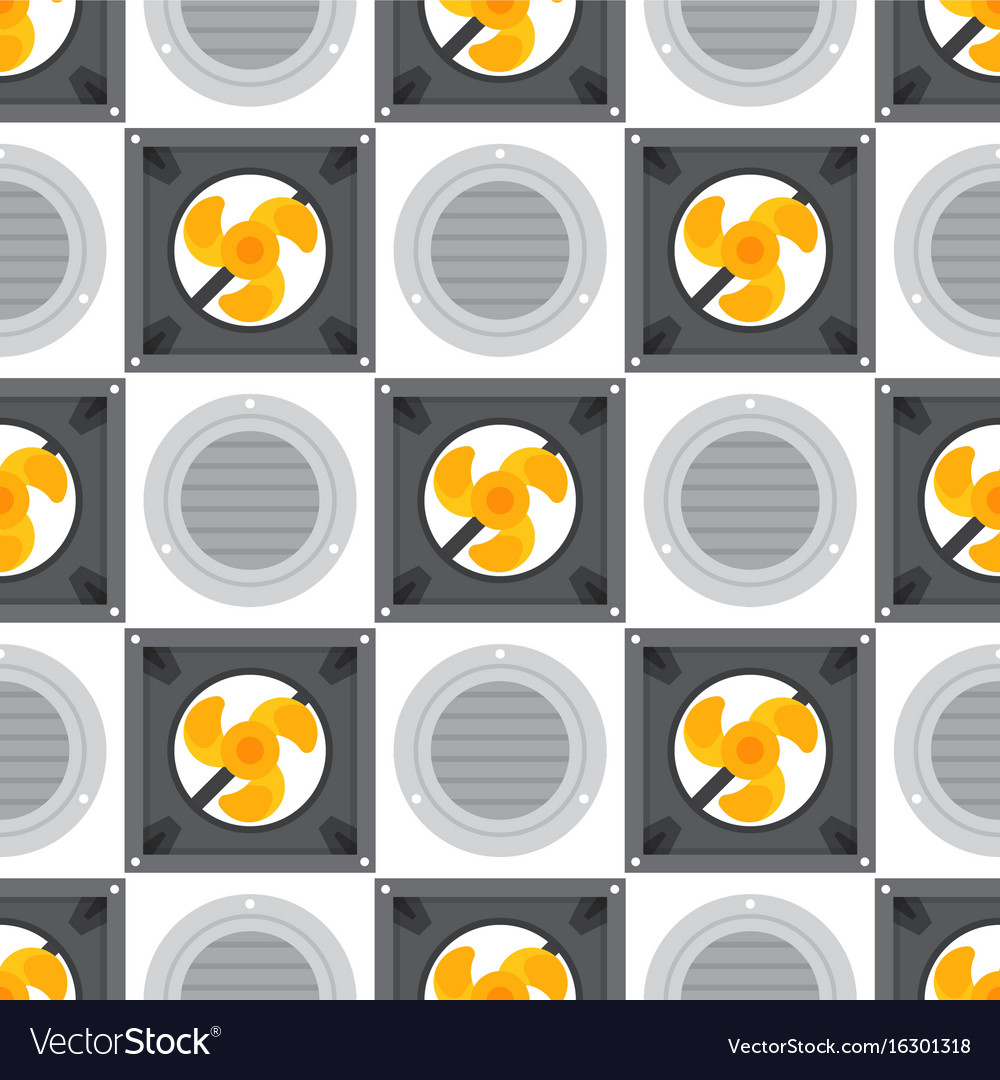Air conditioner airlock systems seamless pattern