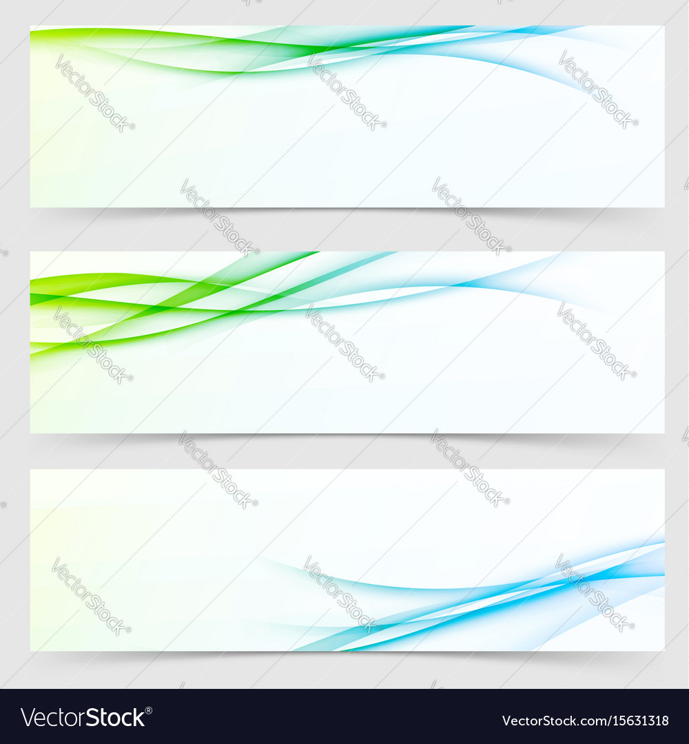Collection of fresh spring line flyers vector image