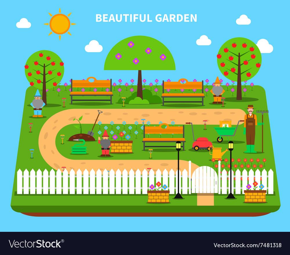 Garden concept vector image