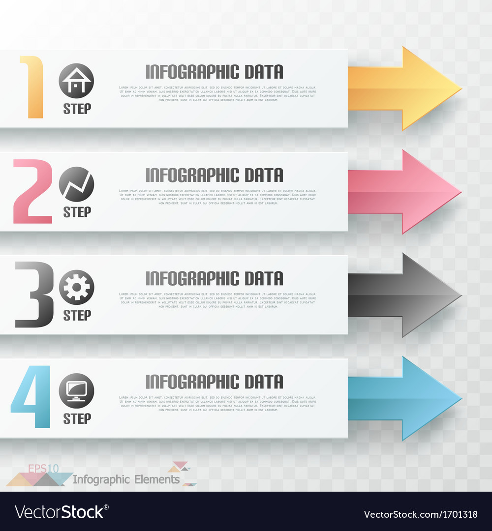 Modern infographics options banner with arrows