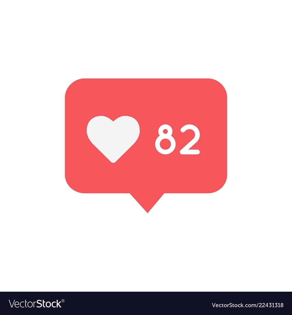 New counter like notification icon followers like