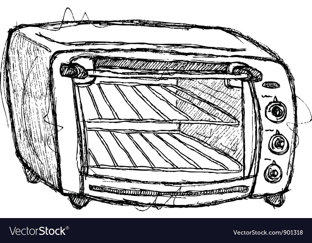Scribble series - oven vector image