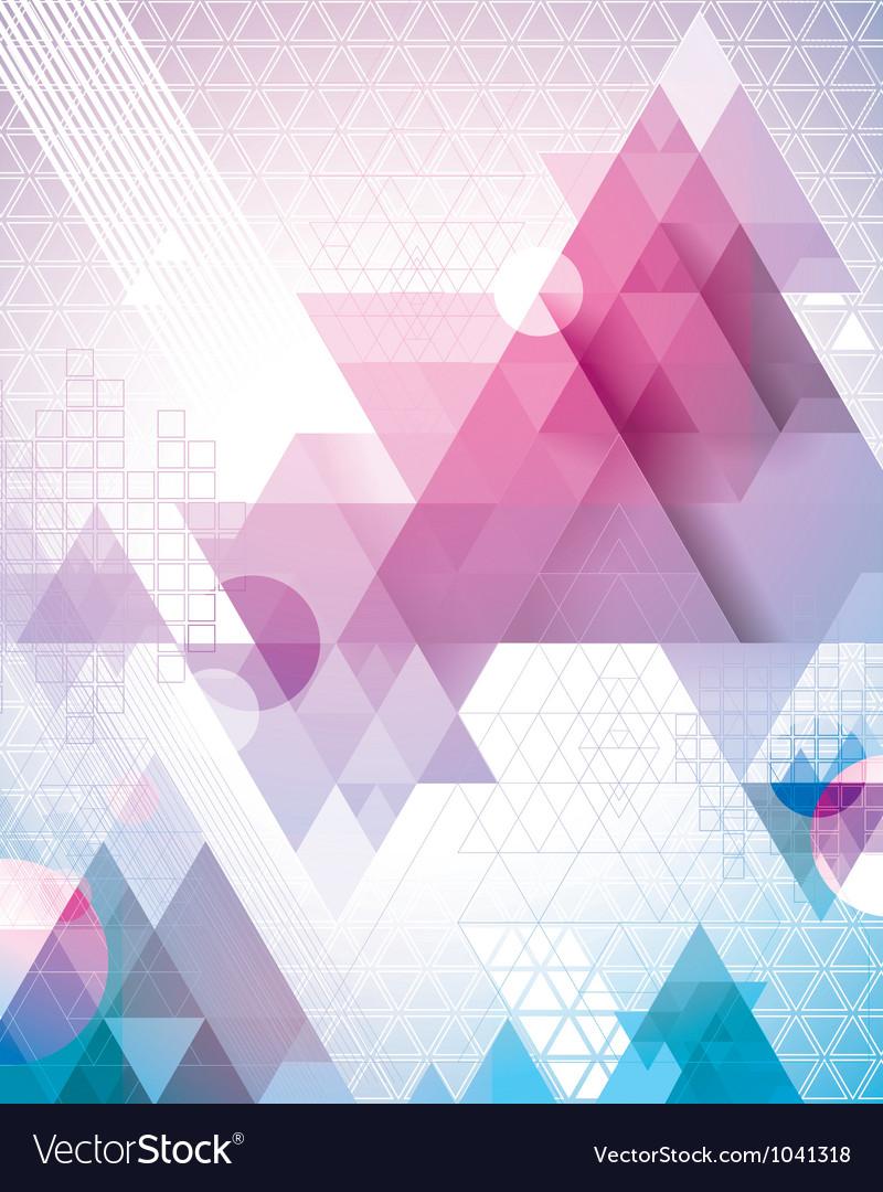 Techno Triangles Magenta