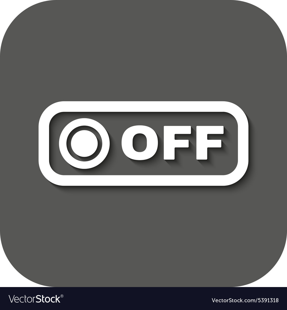 The off button icon Off switch symbol Flat vector image