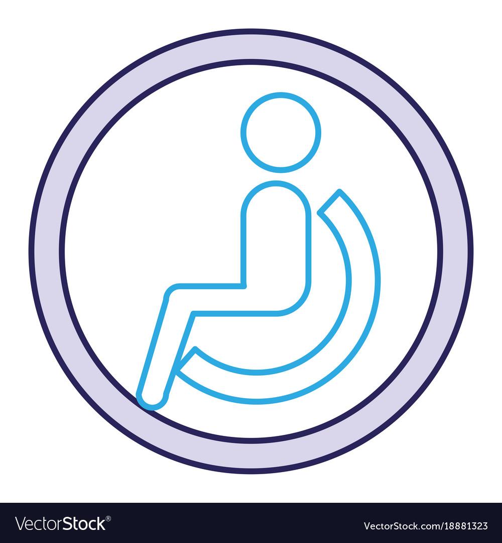 Disable person silhouette icon