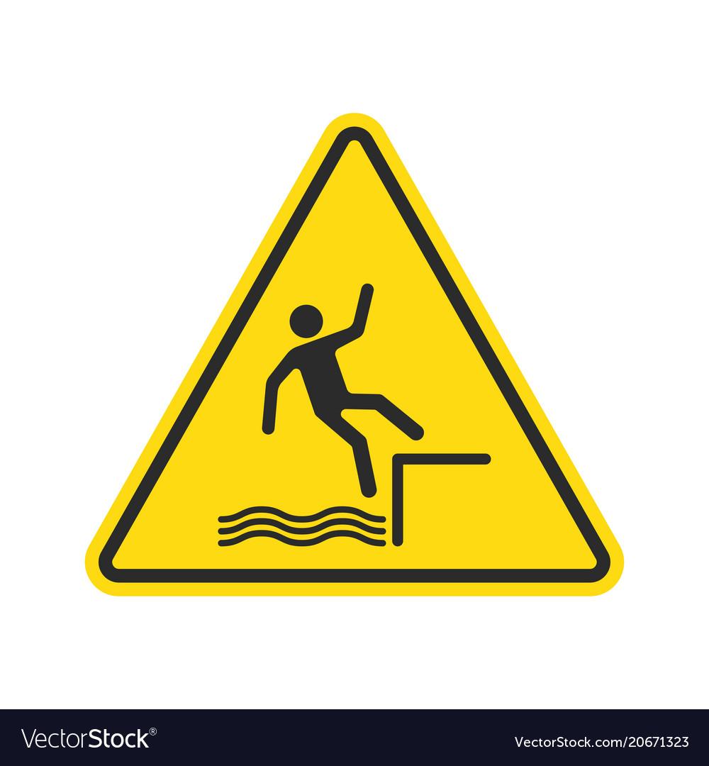 Fall hazard sign