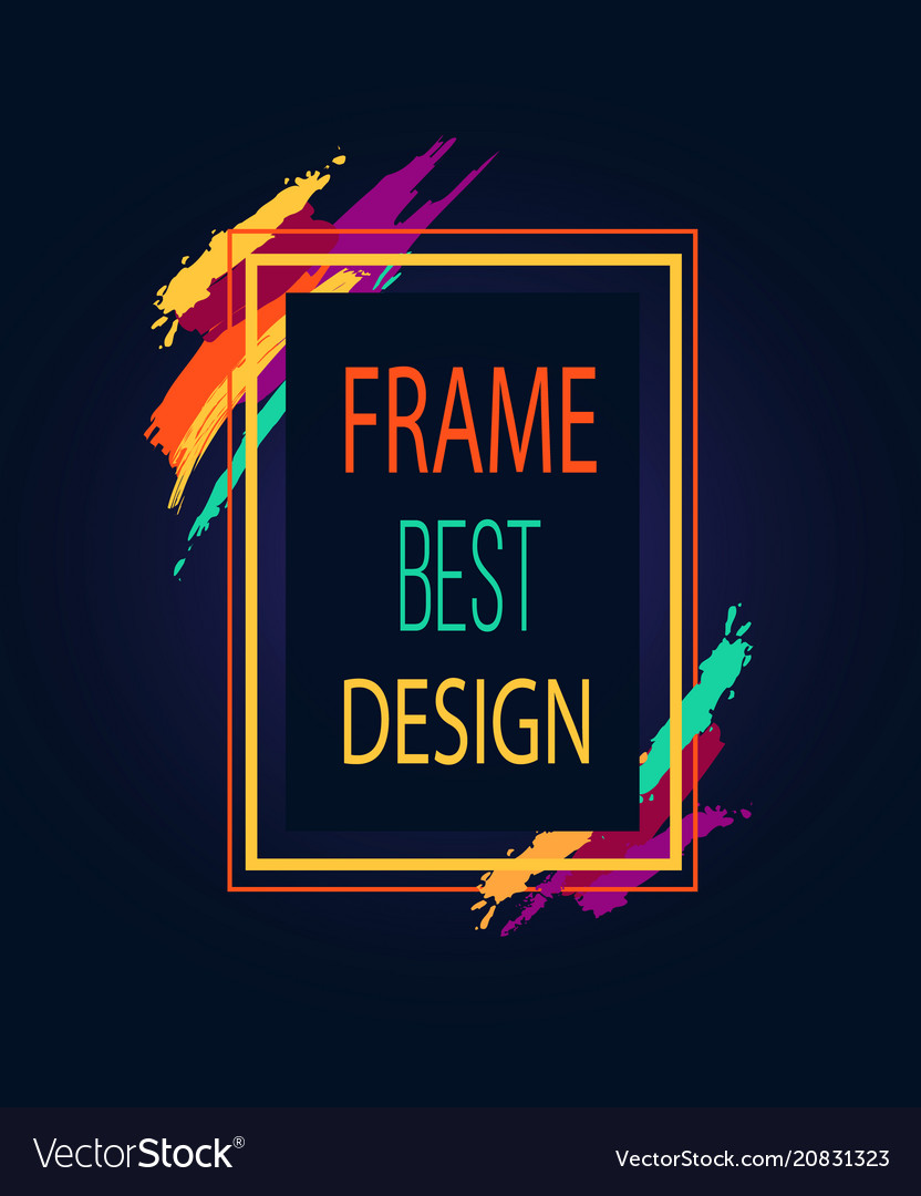 Frame best design rectangular bright border icon