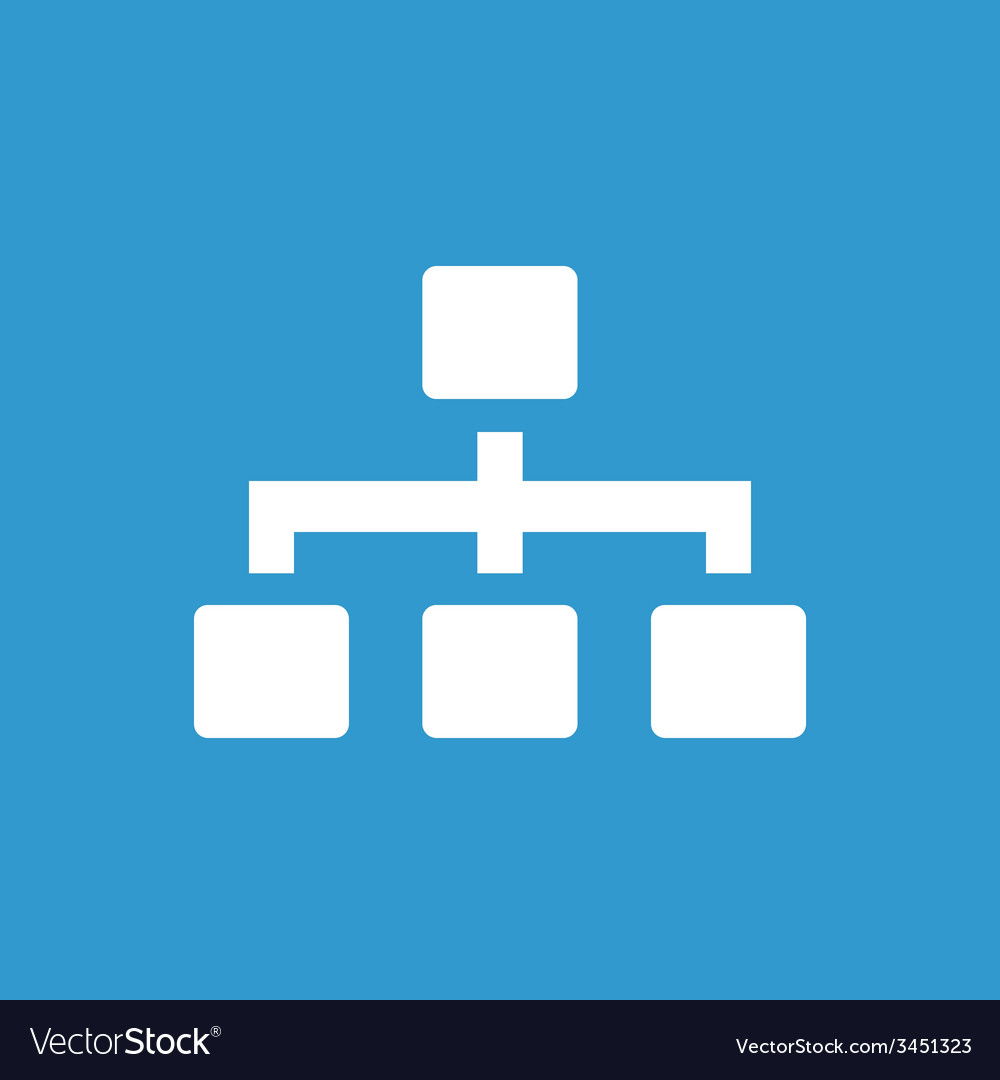 Hierarchy icon white on the blue background
