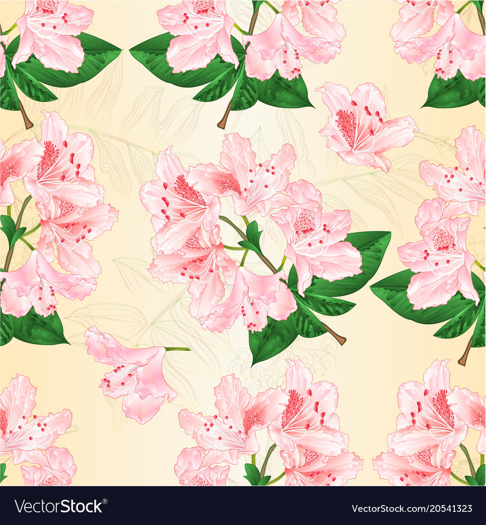 Seamless texture light pink rhododendron twig