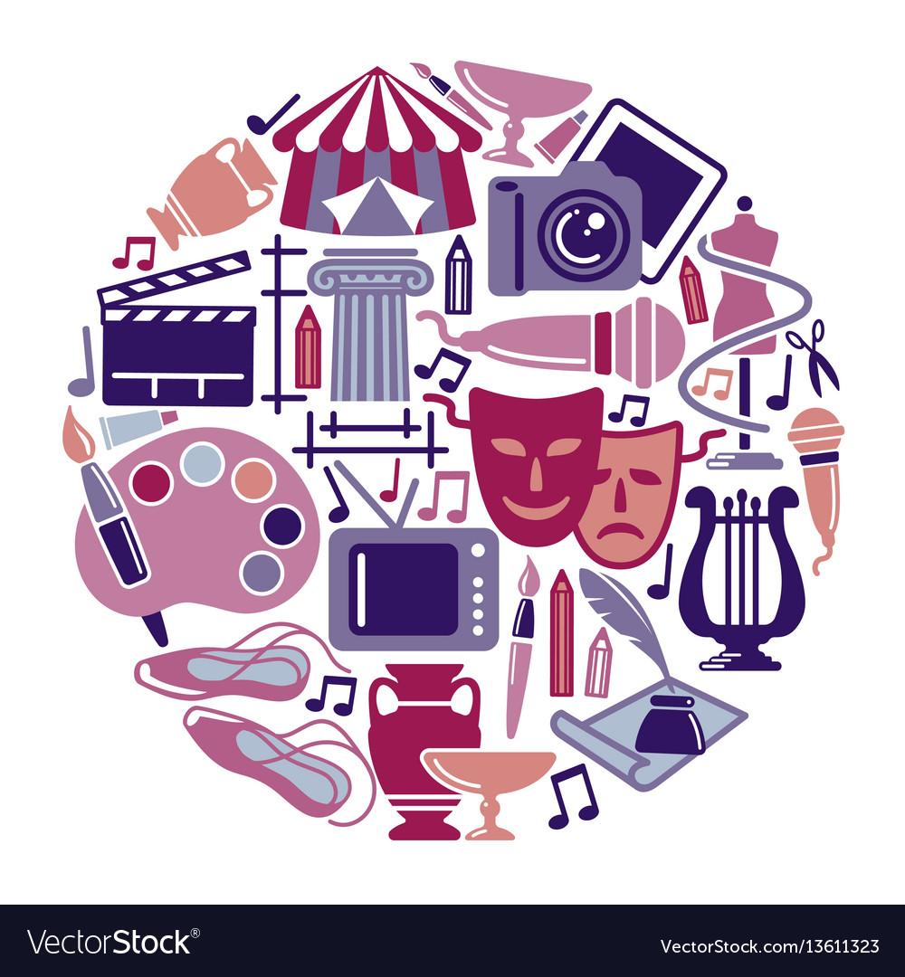 Symbol of arts vector image