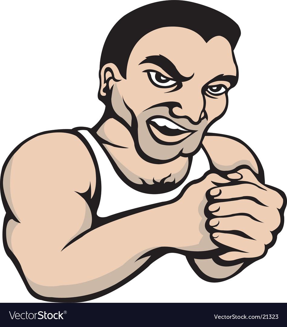 Tough guy vector image