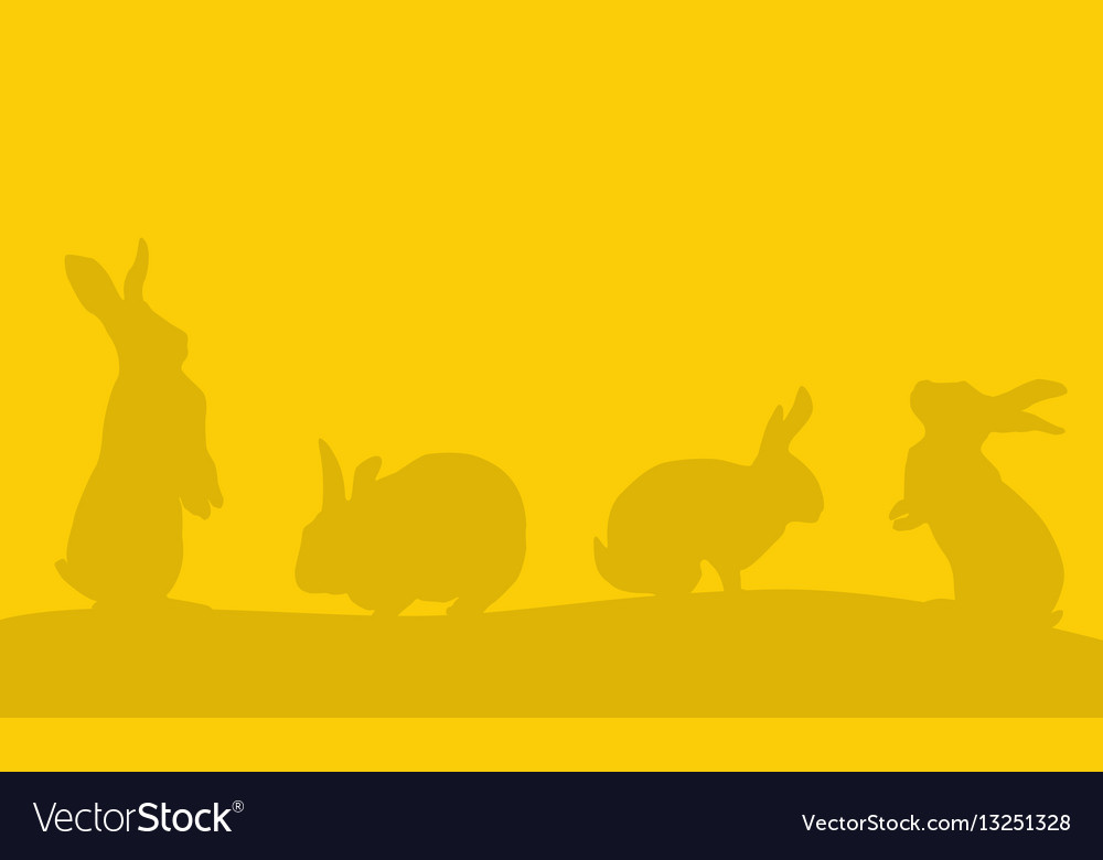 Background of easter bunny landscape