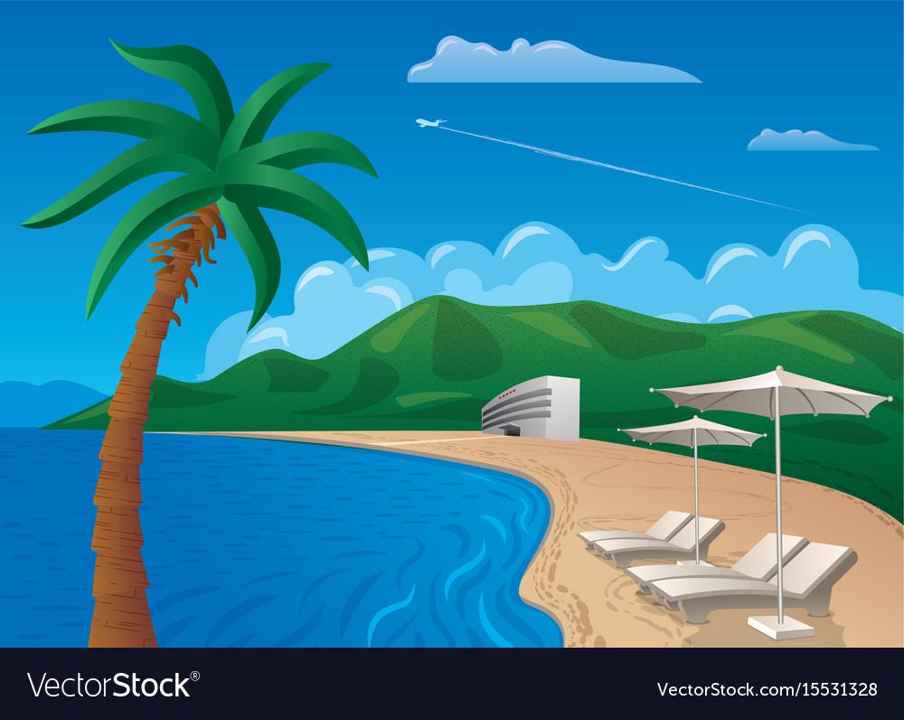 Beach resort journey vector image