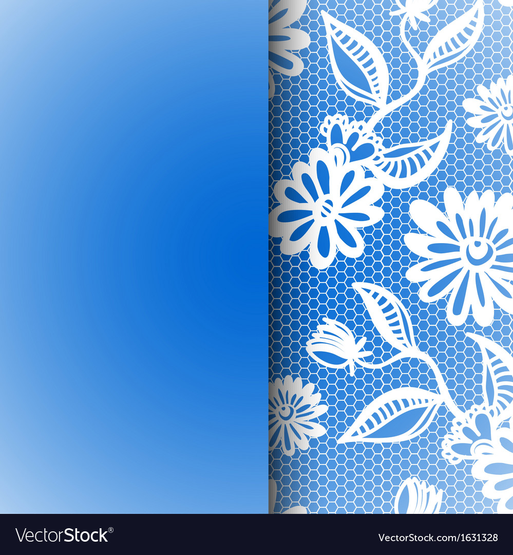 Blue seamless floral vintage lace background