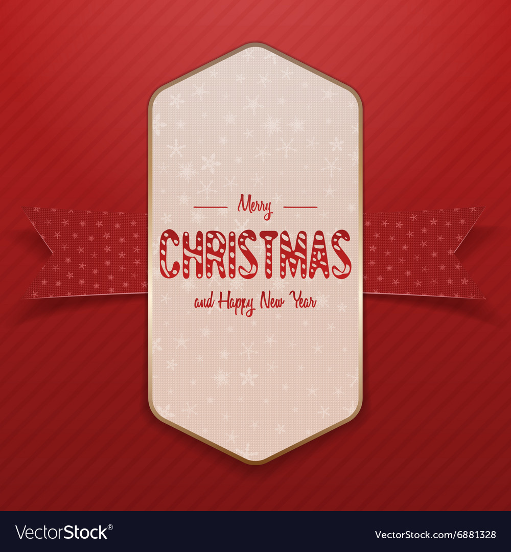 Christmas white big Poster with Snowflakes vector image