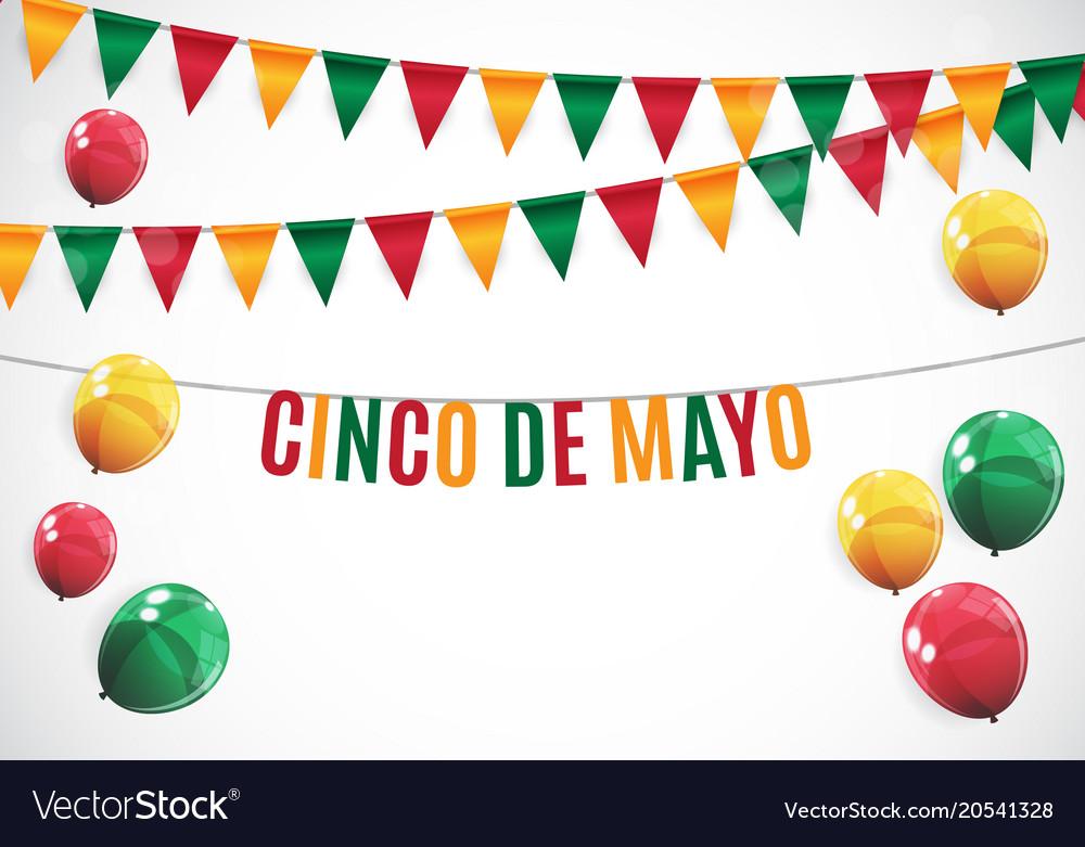 Cinco De Mayo Holiday Background Vector Image