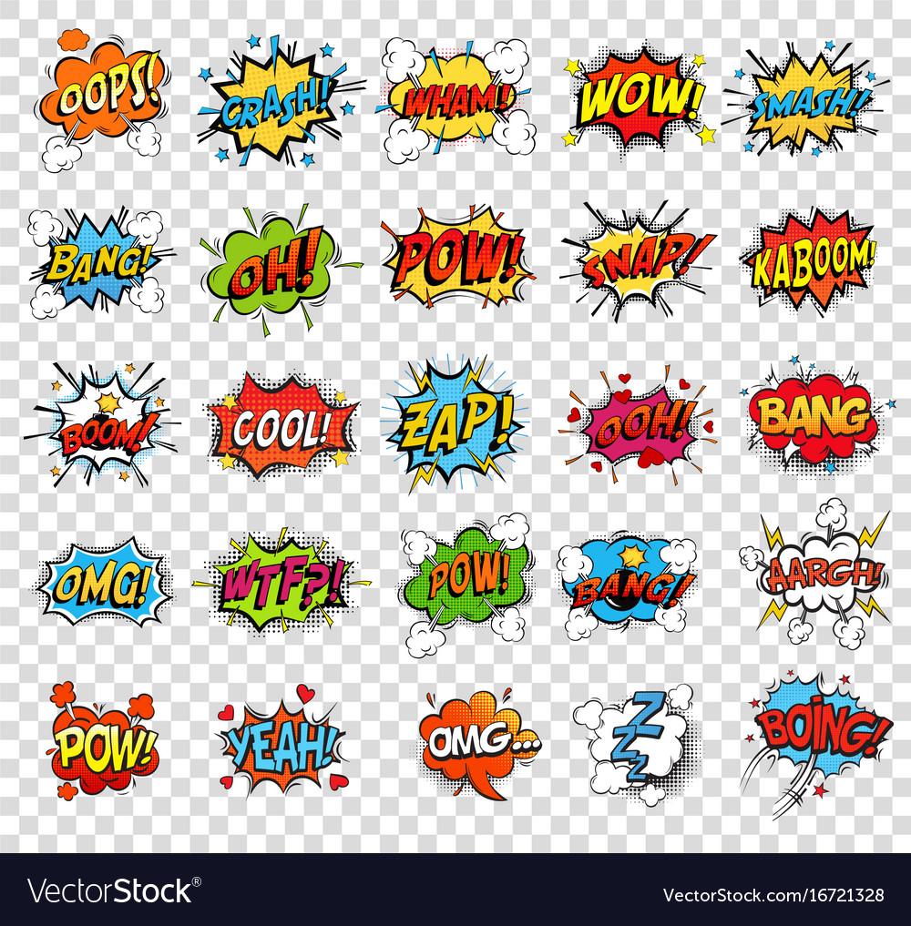 Comic speech bubbles or sound replicas
