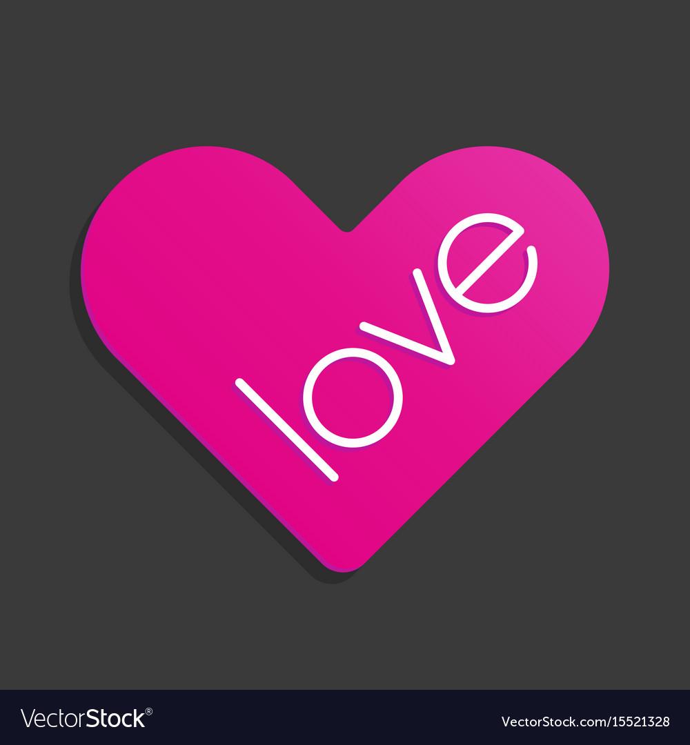 Heart love symbol sticker icon