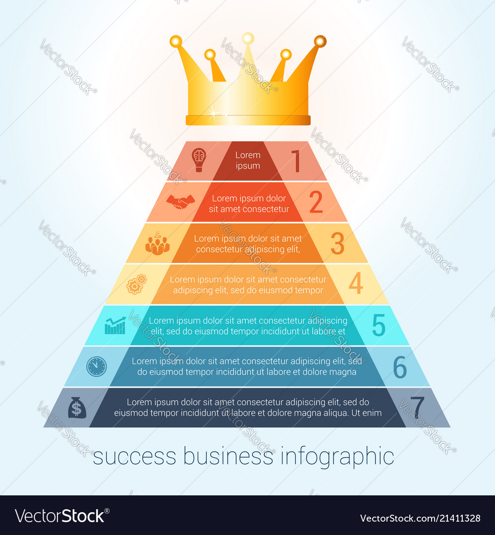 Infographic success business modern template for