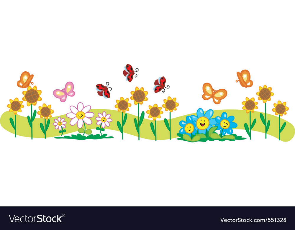 Picturedaisy Flower on Line Of Flowers Vector 551328   By Carlacastagno