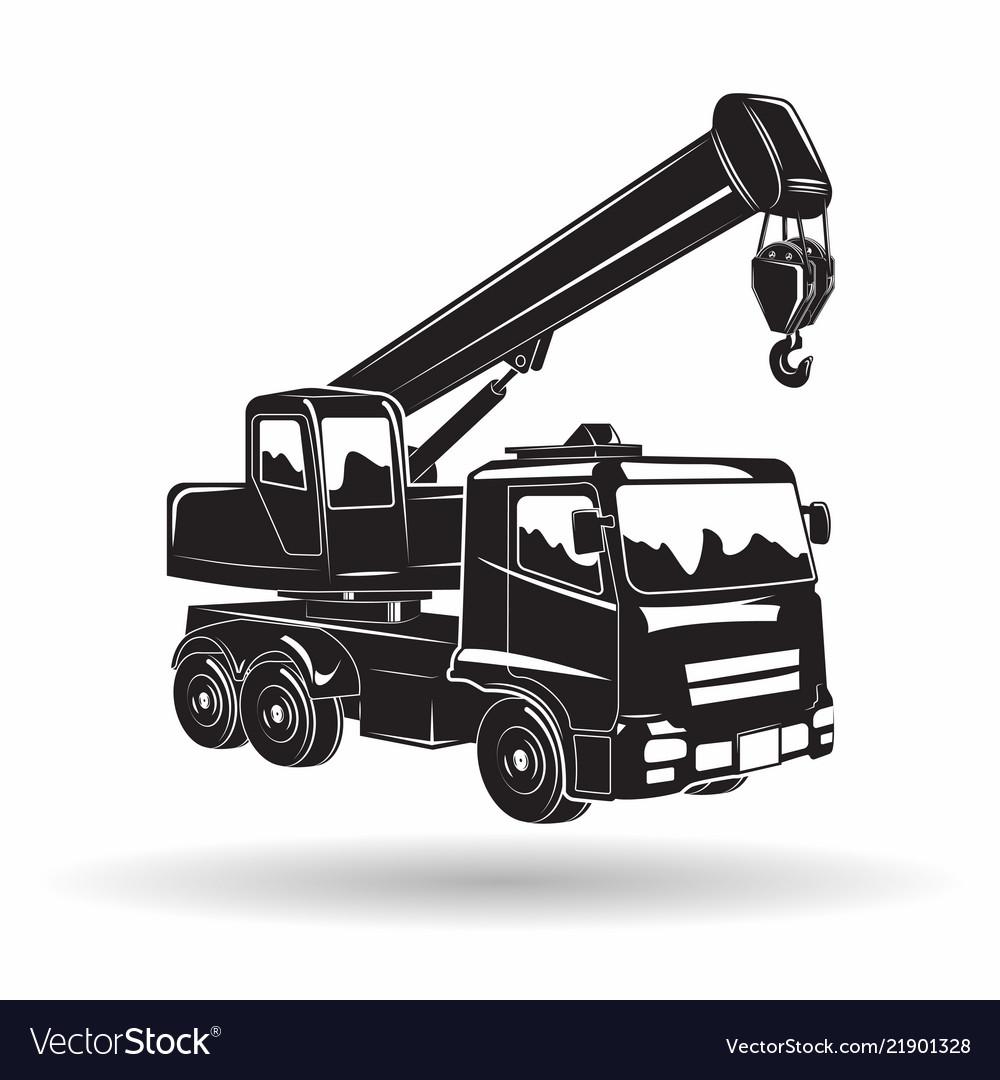 Monochrome auto crane icon