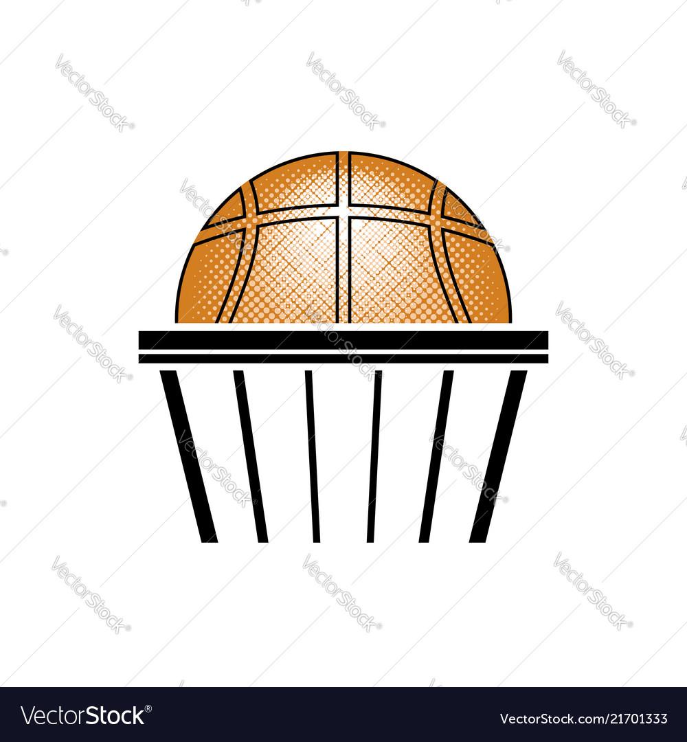 Basketball orange ball icon sports equipment