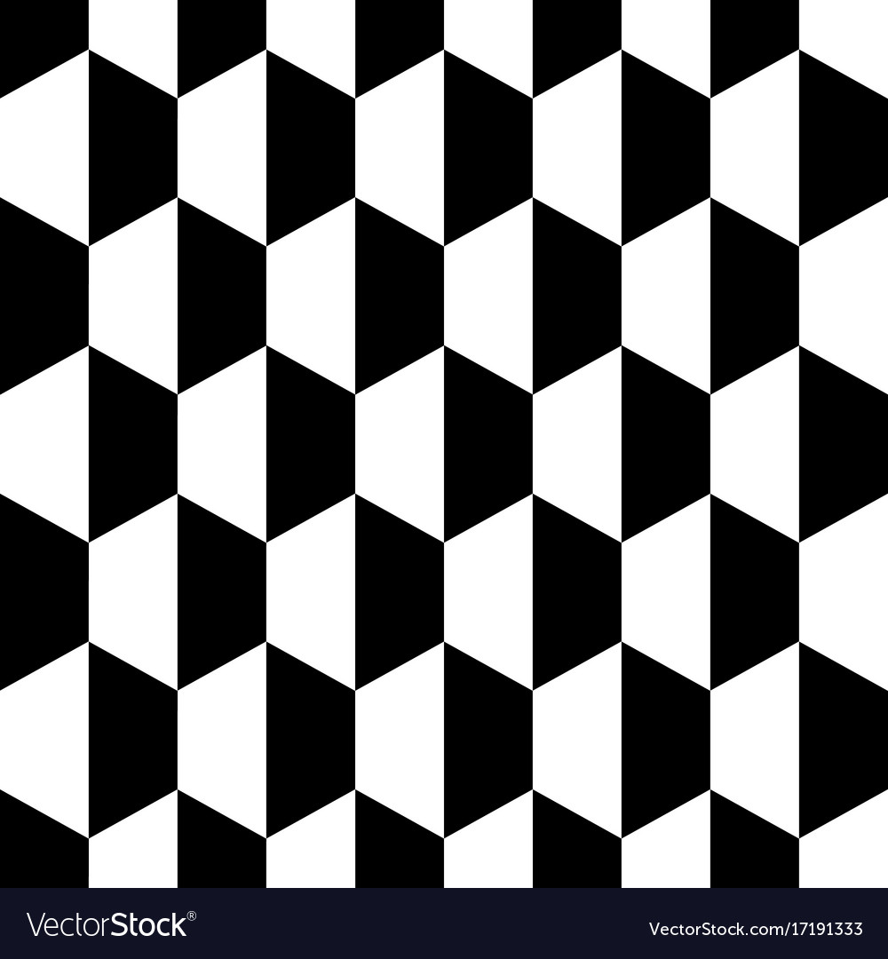 Black white honeycomb hexagon seamless background